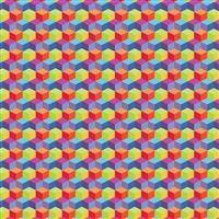 Rainbow Cubes Fabric 0.5m