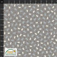 Find The Woods Mouse Dots Grey Fabric 0.5m
