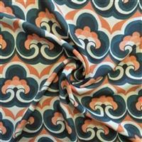 Teal Reminiscence 100% Viscose Challis Lawn Fabric Bundle (4.5m). Save £10