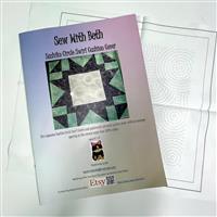 Sew with Beth Circle Sashiko Cushion Pattern and Panel