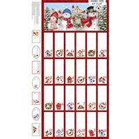 Winter Welcome Fold & Stitch Advent Calendar Panel 0.64m