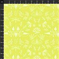 Aerial Wingspan On  Mustard Fabric 0.5m