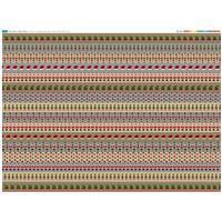Elf & Santa Strips Fabric Panel (140 x 109cm)