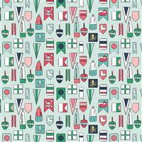 Riley Blake Ahoy Mermaids Flags Fabric 0.5m