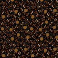 Anni Down On the 12th Flowers Black Fabric 0.5m