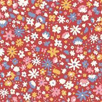 Liberty Carnaby Collection Bloomsbury Blossom Red Fabric 0.5m