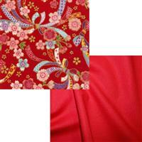 Red & Gold Japanese Fabric Bundle (1m)