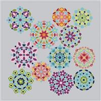 Riley Blake Gemstones Brights On Silver Fabric Panels 1m x 1m