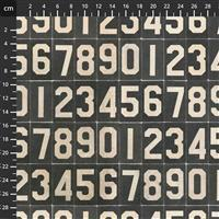 Tim Holtz Monochrome Collection Subway Numbers Fabric 0.5m