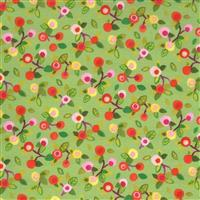 Moda Fanciful Forest  in Light Green Fruit Fabric 0.5m