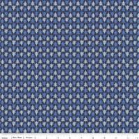 Liberty Merry & Bright Festive Firs Blue Fabric 0.5m