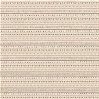 Lynette Anderson Peace & Joy Stripes Cream Fabric 0.5m