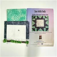 Sew with Beth Green Circle Sashiko Cushion