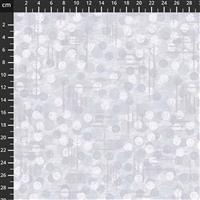 Dots Grey Extra Wide Backing Fabric 0.5m (274cm Width)