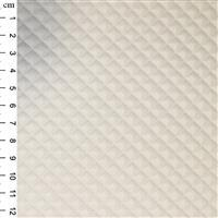 PU Quilted Fabric Ivory 0.5m