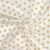 Mini Star Mustard Gold Fabric 0.5m