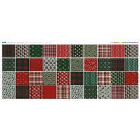 Traditional Christmas 40 Squares Fabric Panel (140 x 61cm)