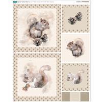 Squirrel Cushion Fabric Panel (70 x 47cm)