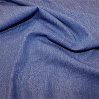 8oz Medium/Heavy Weight Washed Denim Cotton - Medium Blue 0.5m