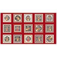 Dan Morris Monkey Biz Sock Monkey Red Panel 0.6m