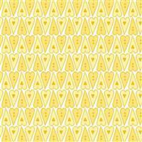 Basically Hugs Yellow Heart Buttons Fabric 0.5m