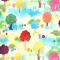 Moda Fanciful Forest  in Watercolour Multi Field Fabric 0.5m