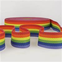 Webbing Multi-Coloured Rainbow 40mm (1m)