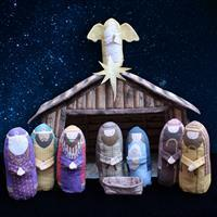 Amber Makes Nativity Scene Kit: Instructions & Panel (140 x 120cm)
