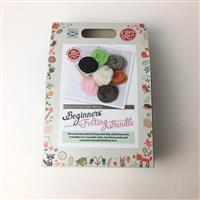 The Crafty Kit Company Beginners Felting Bundle & 3x Needles with Tool