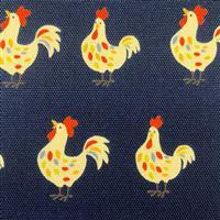 Hens On Navy Fabric 0.5m - exclusive