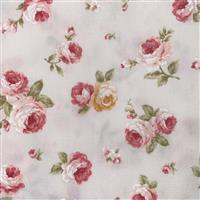 Floral Story Tossed Roses On Cream Fabric 0.5m - Sewing Street exclusive