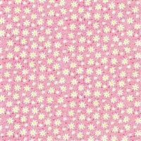 Henry Glass Nana Mae V Pink Packed Daises Fabric 0.5m