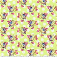 Tula Pink Curiouser And Curiouser in Painted Roses Sugar Fabric 0.5m