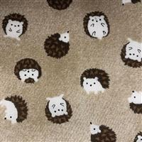 Hedgehogs On Fawn Fabric 0.5m - exclusive