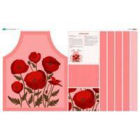 Poppy Pink Apron Fabric Panel (140 x 87cm)