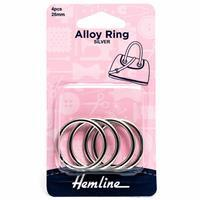 Alloy Ring 26mm Nickel 4 Pieces