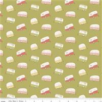 Riley Blake Joy In The Journey in Olive Caravan Fabric 0.5m