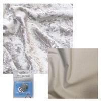 Platinum Crushed Velour, Silver Cotton & Snap Bundle
