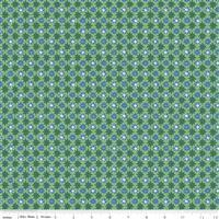 Liberty Merry & Bright Starlit Sparkle Green Fabric 0.5m