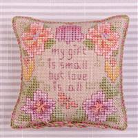 Cross Stitch Guild Love is All Pincushion on Linen - Exclusive to Sewing Street