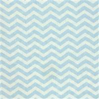 Chevron Light Blue Fabric 0.5m