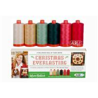 Aurifil Christmas Everlasting by Marie Bostwick Pack Of 6 Large Spools (6 x 1300m)