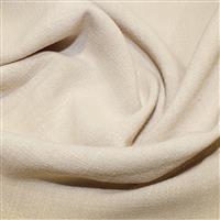 Cream Linen-Look Viscose Fabric 0.5m