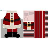 Santa Claus Apron Fabric Panel (140 x 88cm)