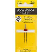 John James Twin Pointed Needle Size 14/90 (4mm)