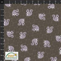 Find The Woods Squirrel Grey Fabric 0.5m