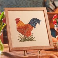 Cross Stitch Guild Rhode Island Red Chicken on Linen Kit