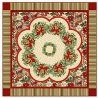 Old Time Christmas Table Topper Quilt Pattern