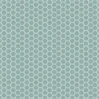 Lewis & Irene Queen Bee Honeycomb On Aqua Fabric 0.5m