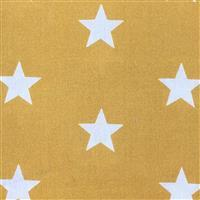 Large Star Mustard Gold Fabric 0.5m